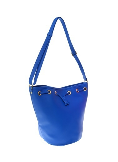 Compania Fantastica Büzgülü Askılı Çanta Mavi